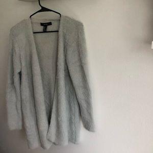 Grey Fuzzy Cardigan